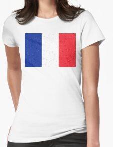 France Flag Mosaic Womens Fitted T-Shirt