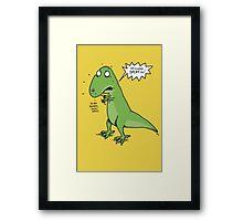 Jurassic Battle. . . Framed Print