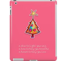 Christmas Card - Lolly Pink Wish Tree iPad Case/Skin