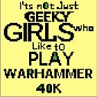 GREETINGS - WITH CROSS STITCH - GIRLS &amp; WARHAMMER by Tuartkatz