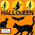 GREETINGS - WITH CROSS STITCH - HALLOWEEN by Tuartkatz