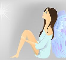 angel watch the star by Marishkayu