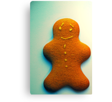 ginger bread men are for christmas... ♥ Canvas Print