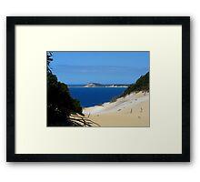 Blue Sky, Blue Sea Framed Print