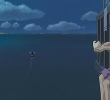 Spirited Away - Studio Ghibli - Boat / Water - Upscale by frc qt