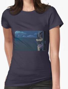 Spirited Away - Studio Ghibli - Boat / Water - Upscale Womens Fitted T-Shirt
