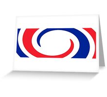 France Flag Whirl Greeting Card