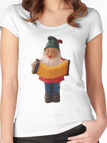 Gnome playing the concertina Women's Fitted Scoop T-Shirt