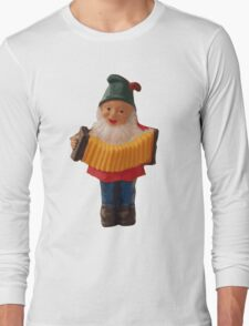 Gnome playing the concertina Long Sleeve T-Shirt