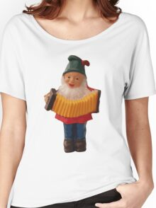 Gnome playing the concertina Women's Relaxed Fit T-Shirt