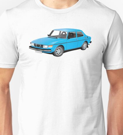 SAAB 99 blue Unisex T-Shirt