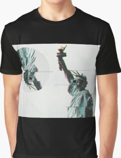 STATUE OF LIBERTY - GLITCH ART Graphic T-Shirt