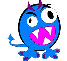 Cute alien blue monster by nadil