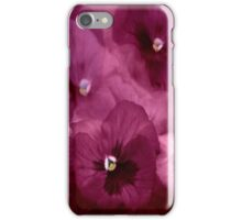 """Pink Pansy iphone cover..."" iPhone Case/Skin"