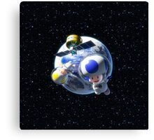 Mario Kart 8 - Toad in Space Canvas Print