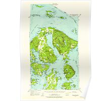 USGS Topo Map Washington State WA Orcas Island 242974 1957 62500 Poster