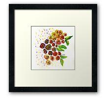 Watercolor Flower Bunch Framed Print
