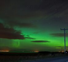 Aurora over the Dornoch firth by John Ellis