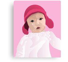 Funky Lily Bub Canvas Print