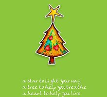 Christmas Card - Wild Lime Wish Tree by © Karin Taylor