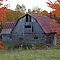 Barn in Autumn by Jim Cumming