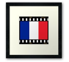France Flag Film Framed Print