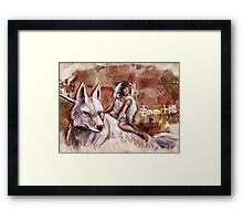 Mononoke and the Wolf Digital Painting Framed Print