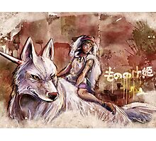Mononoke and the Wolf Digital Painting Photographic Print