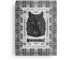 Pride of the Forest Wolf Mononoke Geek Line Artly Metal Print