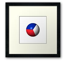 France Flag Sphere Framed Print