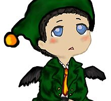 Christmas Elf Castiel by assorted