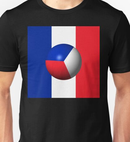 France Flag Sphere Unisex T-Shirt
