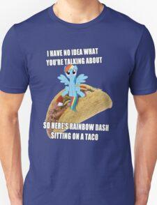 Rainbow Dash Sitting On A Taco T-Shirt