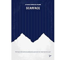 No158 My SCARFACE minimal movie poster Photographic Print