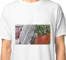Crystal Frost on Red Leaf Classic T-Shirt