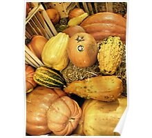 Crates And Gourds Poster