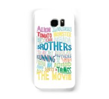 Rick and Morty Two Brothers Handlettered Quote Samsung Galaxy Case/Skin