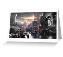 Cyberpunk - Fantasy Setting - Circle Greeting Card