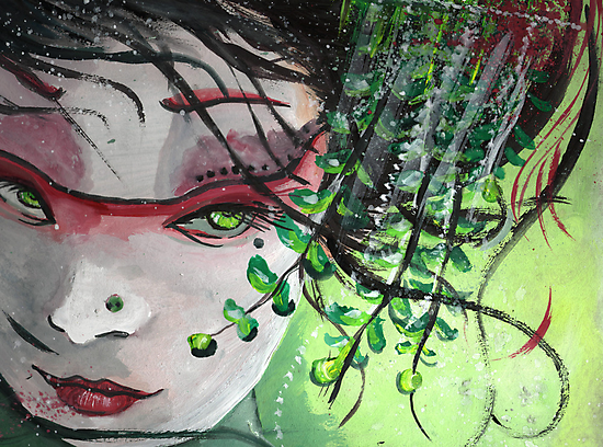 Geisha in Leaves: The Sentimental Concubine by Barbora  Urbankova