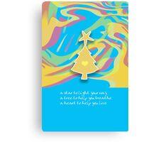 Christmas Card - Swish Wish Tree Canvas Print