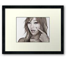 Sistar - Hyorin / Hyolyn - K-Pop - Touch My Body - 5k Framed Print