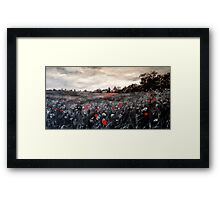 field of rememberance Framed Print