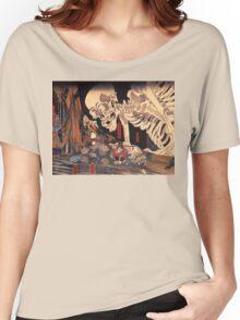 Old Japanese Art / Painting - Ukiyo-e - Skeleton - Demon Women's Relaxed Fit T-Shirt