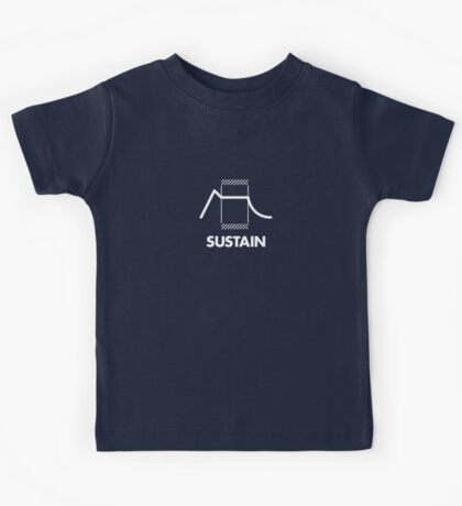 ADSR - Sustain (White) Kids Tee