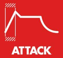 ADSR - Attack (White) One Piece - Short Sleeve
