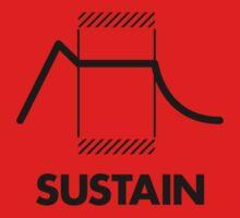 ADSR - Sustain (Black) Baby Tee
