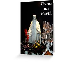 "Christmas Card ""Mary"" Peace on Earth. ne1o4c Greeting Card"