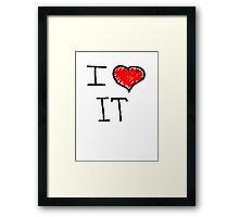 i love it  Framed Print