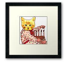 Cat Candles Framed Print