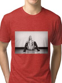 Leather Boots - Censored Tri-blend T-Shirt